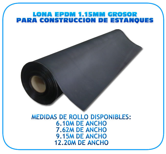 L mina epdm el stica para construcci n de estanques 6 10m for Construccion de estanques para piscicultura